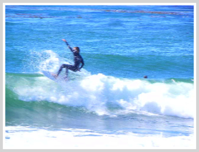 surfing moonstone beach