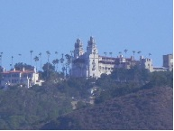 hearst castle from the road
