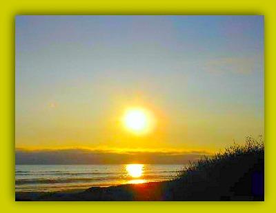 sun set california